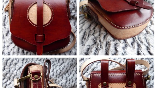 Shell Stamped Leather Bag