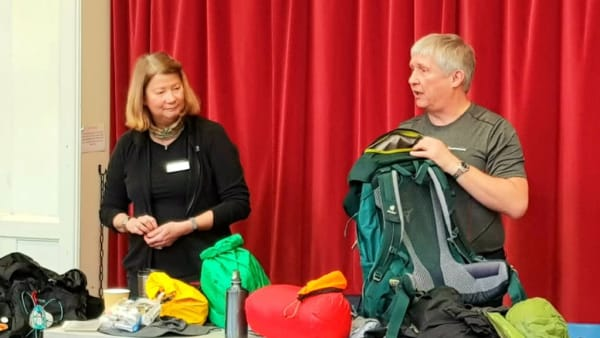 packing demonstration at practical pilgrim day