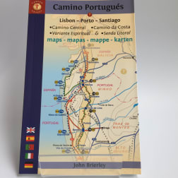 cover of camino portugues maps john brierley